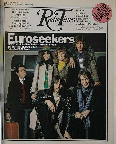 The New Seekers Eurovision1972 Uk On 1972 Radio Times