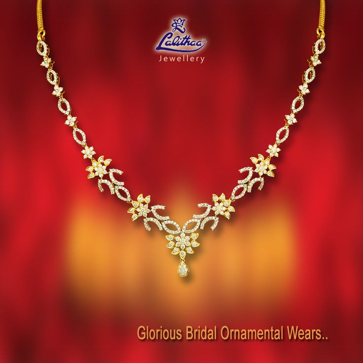 #LalithaaJewellery has unique collections of Bridal wear Diamond necklace that inspires you a lot with its shining glow! Get into - www.lalithaajewellery.com for more varieties.