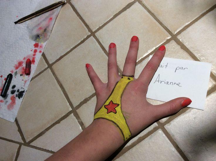 Maquillage de main Wonder Woman