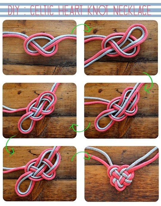 DIY: Celtic Heart Knot Necklace... i think i could work this into a scarf