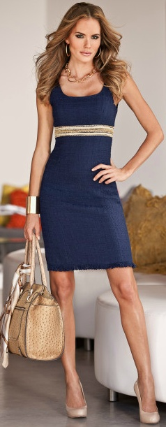 ... love the dress, I already have the bag & similar shoes! Now all I have to do is loose the weight so it will look good!