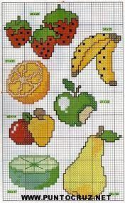 punto de cruz frutas - Buscar con Google