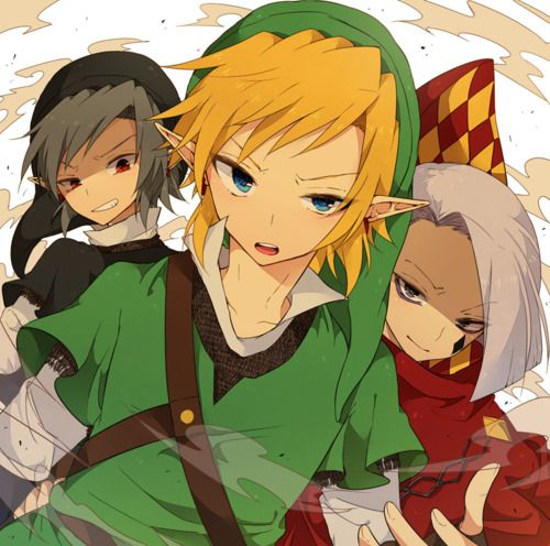 Dark Link, Link, and Lord Giraham