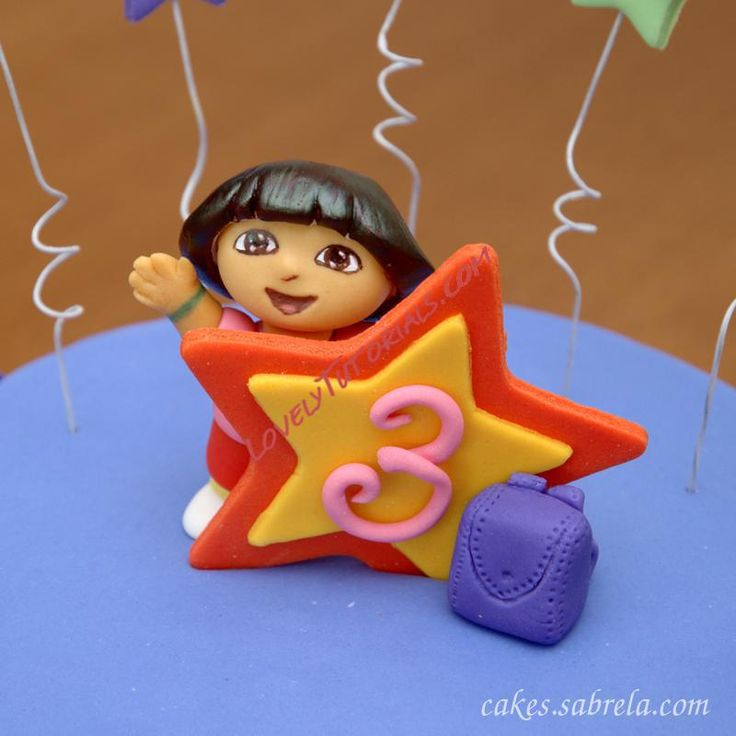 gumpaste (fondant) Dora the Explorer cake topper tutorial