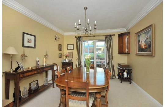 This traditonal Dining Room is finished in Farrow and Ball Hound Lemon.