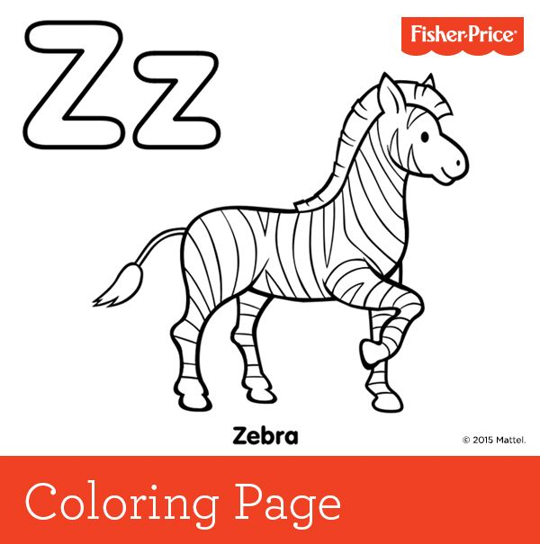 Z is for zebra a zebra s stripes are as unique as for Coloring pages of zebra stripes