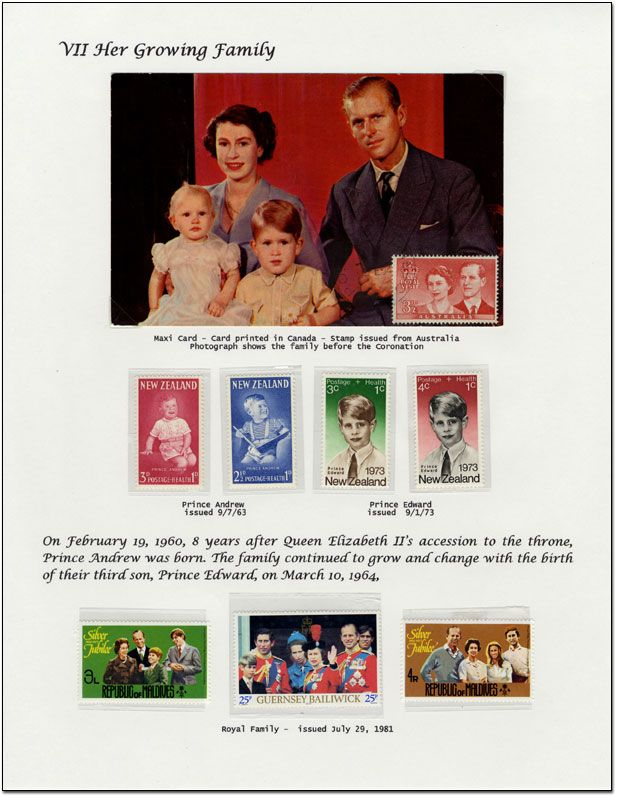 Stamp album page