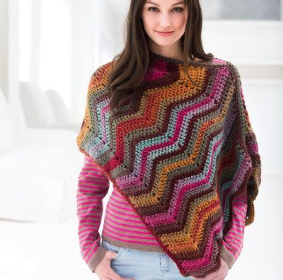 Sunset Poncho Crochet Kit