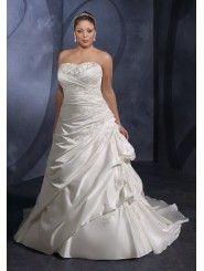 Satin Strapless Corset Sweetheart A-line Wedding Dress