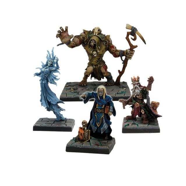 Dungeon Saga: The Dwarf King's Quest by Mantic Games — Mortibris, Elshara, Grund, Hoggar plastic miniatures