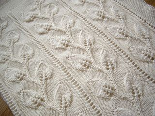 Pram Rug with Trailing Leaves pattern by Patons Australia