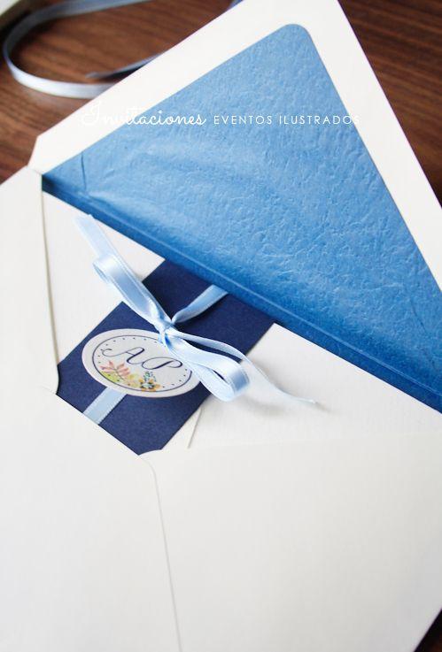 sobres forrados #diseño #boda #invitaciones