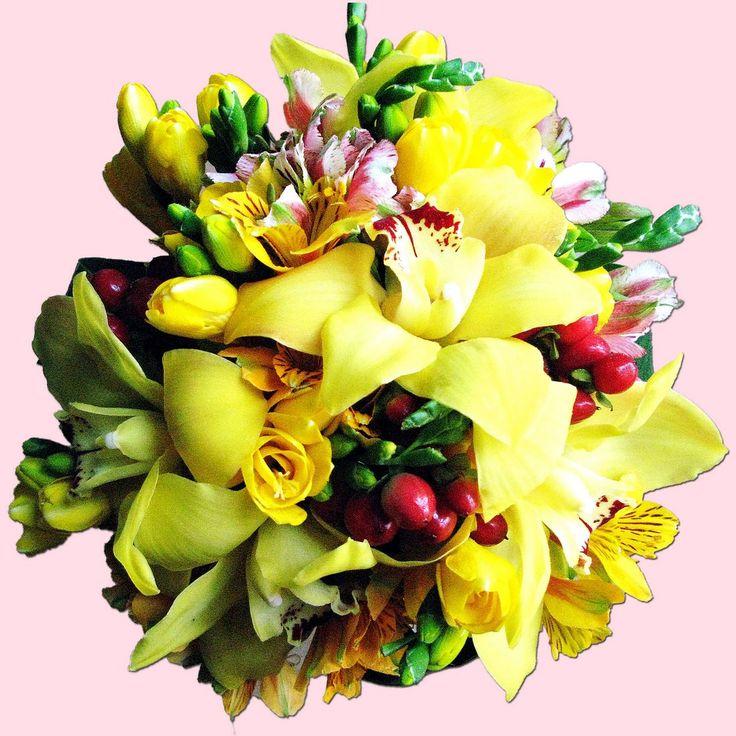9 flower arrangements & butterflies
