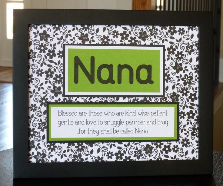Mothers Day Gift for Nana blessed black white flowers. $18.00, via Etsy.