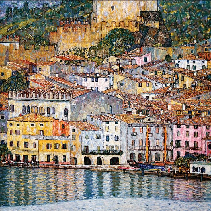 Malcesine on Lake Garda, 1913 by Gustav Klimt