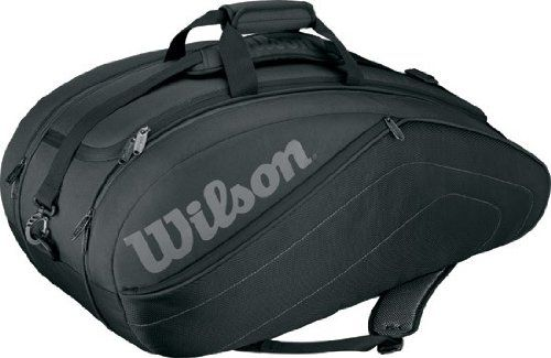Wilson '13 Club 9 Pack Tennis Bag - http://www.closeoutracquets.com/tennis-and-racquetball-bags/tennis-bags/wilson-13-club-9-pack-tennis-bag/