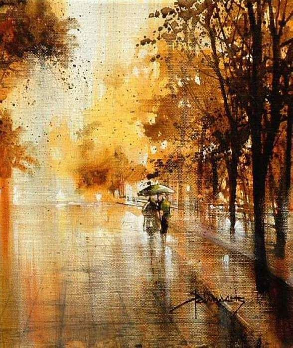 Кухня художника и все его причиндалы - Осенние пейзажи от Roland Palmaerts