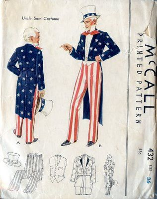Unsung Sewing Patterns: McCall 432 - Uncle Sam Costume