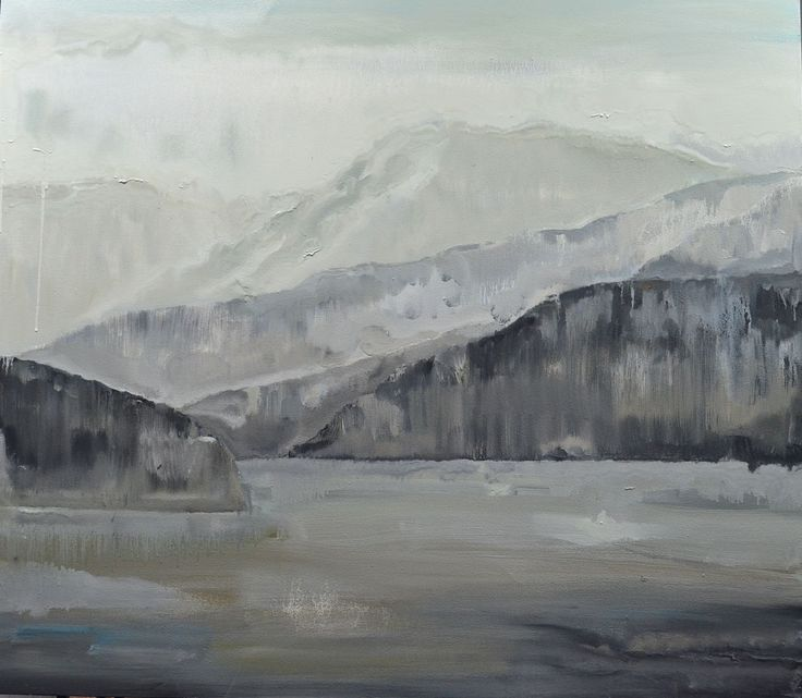 Grayscape from Ferry.  Oil on canvas. 42 x 48 inches.