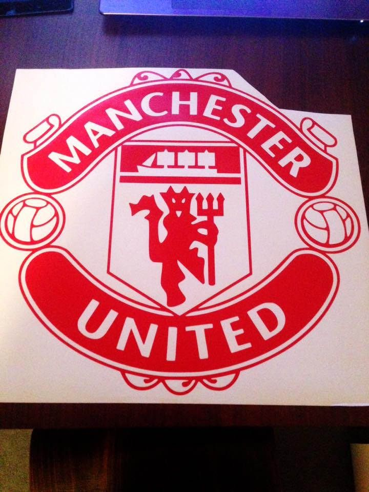 Manchester United F.C. Badge Wall Art Vinyl Decal Sticker Football Club Sport Soccer Mural Die Cut by VinylCre8iveDesigns on Etsy