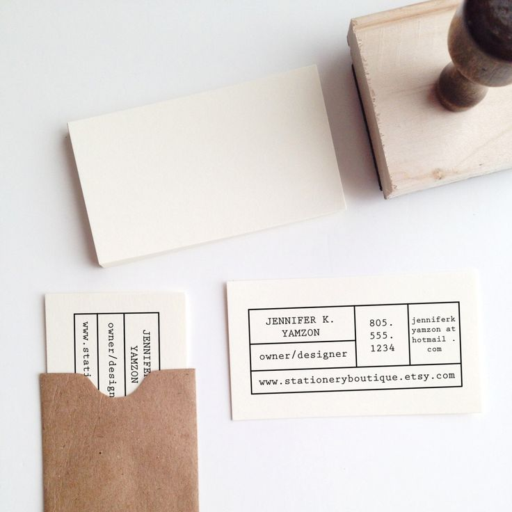 Make-Your-Own Business Card Stamp by stationeryboutique on Etsy https://www.etsy.com/uk/listing/166325214/make-your-own-business-card-stamp