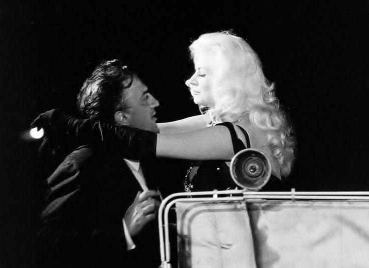 Anita Ekberg & Federico Fellini by Elio Sorci, Boccaccio '70, Rome, 1961.