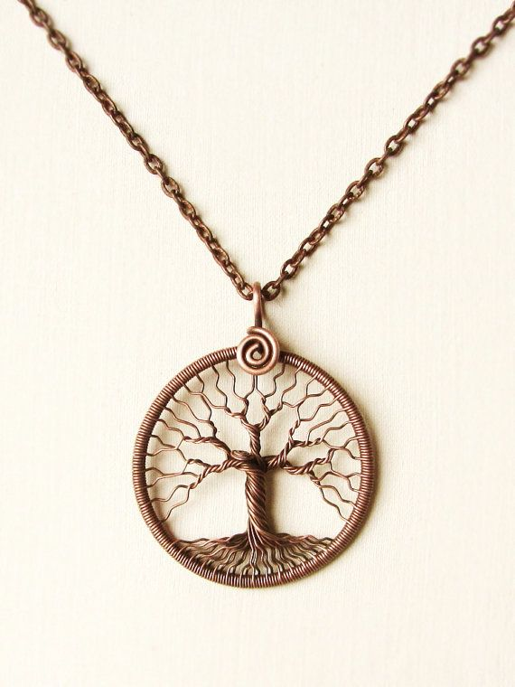 Tree of Life copper wire wrapped pendant Family tree Jewelry by MagicWire