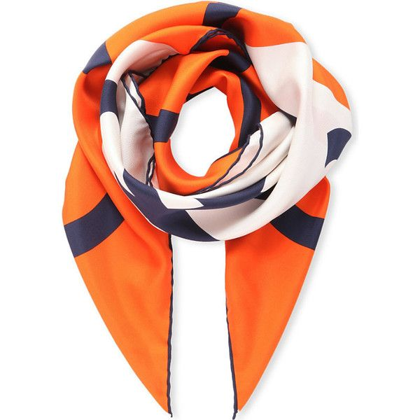 Loewe Giant anagram scarf ($290) ❤ liked on Polyvore featuring accessories, scarves, loewe, print scarves and patterned scarves