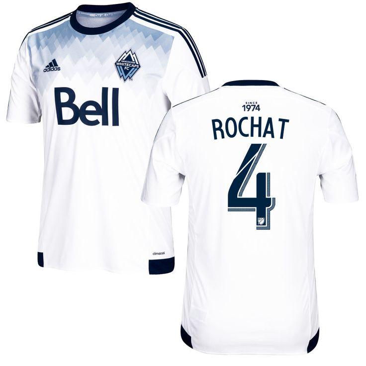 Alain Rochat 4 Vancouver Whitecaps FC 2016/17 Home Soccer Jersey Deep Sea White