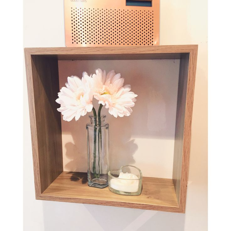 Copper and blush cubed shelves. #home #inspiration
