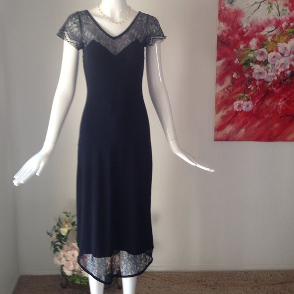 "Leona Edmiston dress 94% polyester 6% Elastane. Made in Australia . Size small .underarm width 13.5"" shoulder to hem 44""Black. No flaw. Google info for this designer. Leona Edmiston Dresses"