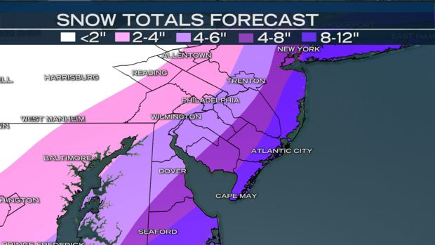 Powerful Nor'easter Bringing Possible Blizzard Conditions, Snow and Strong Winds Will Make Morning Commute Troublesome - NBC 10 Philadelphia