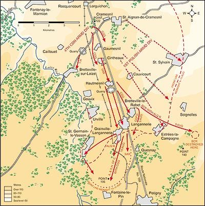 """Operation Totalize. the strength of the German position duringOperation Totalizehas generally been under-appreciated by historians, since the traditional view that the Canadians, """"despite overwhelming air and artillery superiority, five divisions and two armoured brigades comprising upwards of 600 tanks could not handle two depleted German divisions,"""" is not entirely accurate.29In fact, during the period of 7-10 August, the II Canadian Corps encountered all or part of five divisions…"""