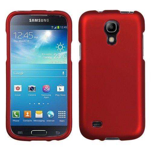 MyBat Titanium Hard Snap-on Rigid Plastic Case Cover for Galaxy S4 Mini - Red #Mybat