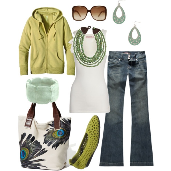 Weekend wearPeacock Feathers, Fashion, Casual Outfit, Style, Necklaces, Peacocks Colors, Shades Of Green, Peacocks Feathers, Peacocks Bags