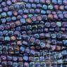 CZECH GLASS dainty and cute 4 mm Cube Beads Iris Blue