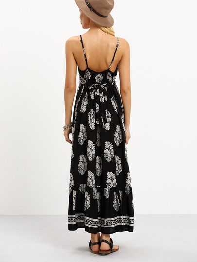 Vestido Cami de sobrepelliz frente estampado de flores