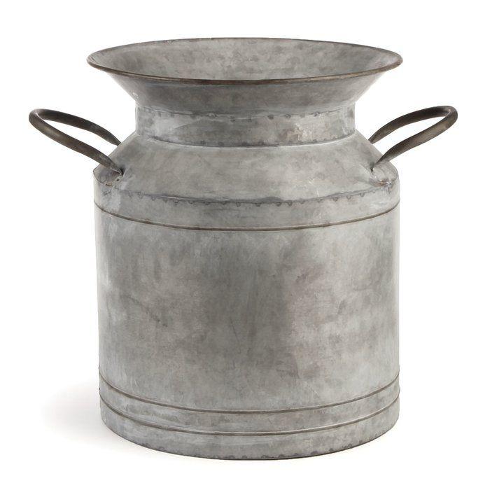 Antiqued Metal Milk Jug
