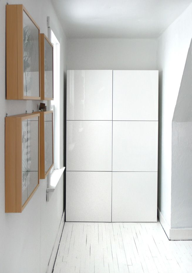 Besta cabinets. They don't look so good at IKEA's