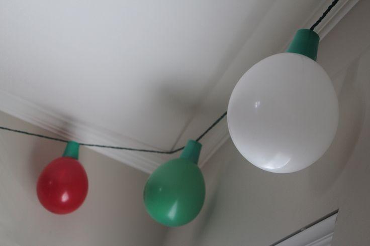 Balloons Solo Cups And Yarn Make Big Christmas Lights To