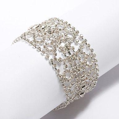 Gorgeous Ladies' Mosaic Rhinestone Bracelet – USD $ 17.59
