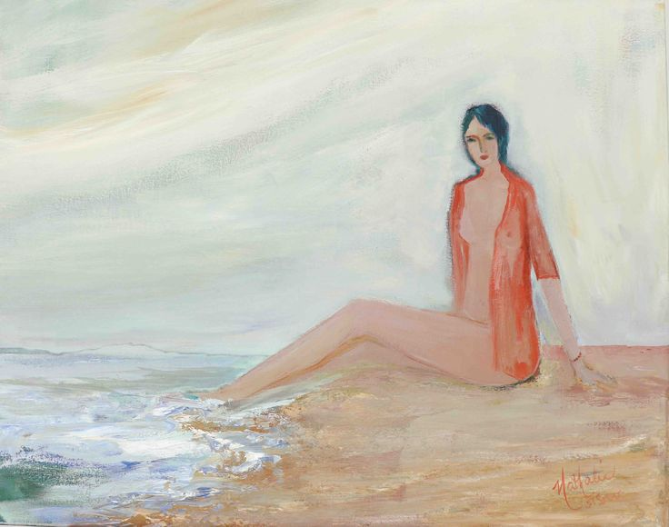 """Nathalie Voisine. Grain de sable. Acrylic on Canvas. 22x28""""."""