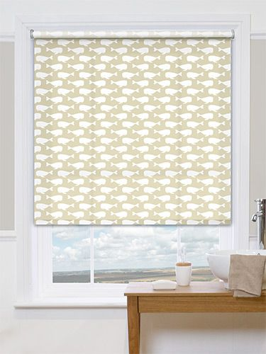 Sea Life Beige Roller Blind from Blinds 2go