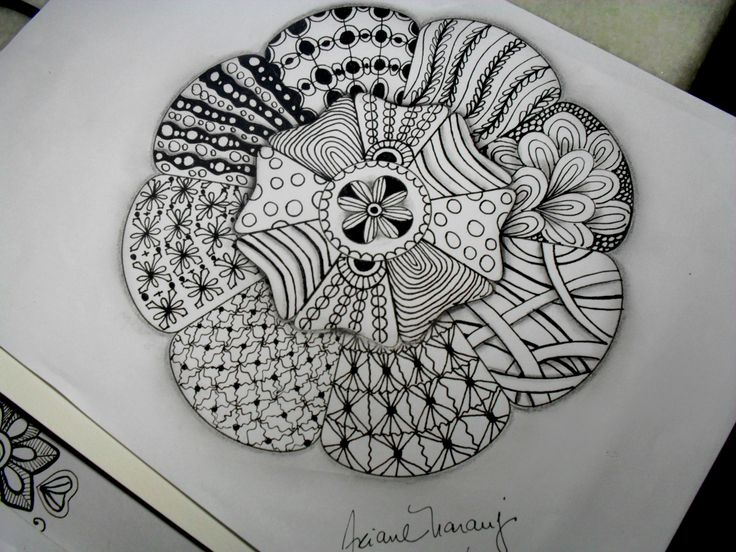 my last drawing #zentangle