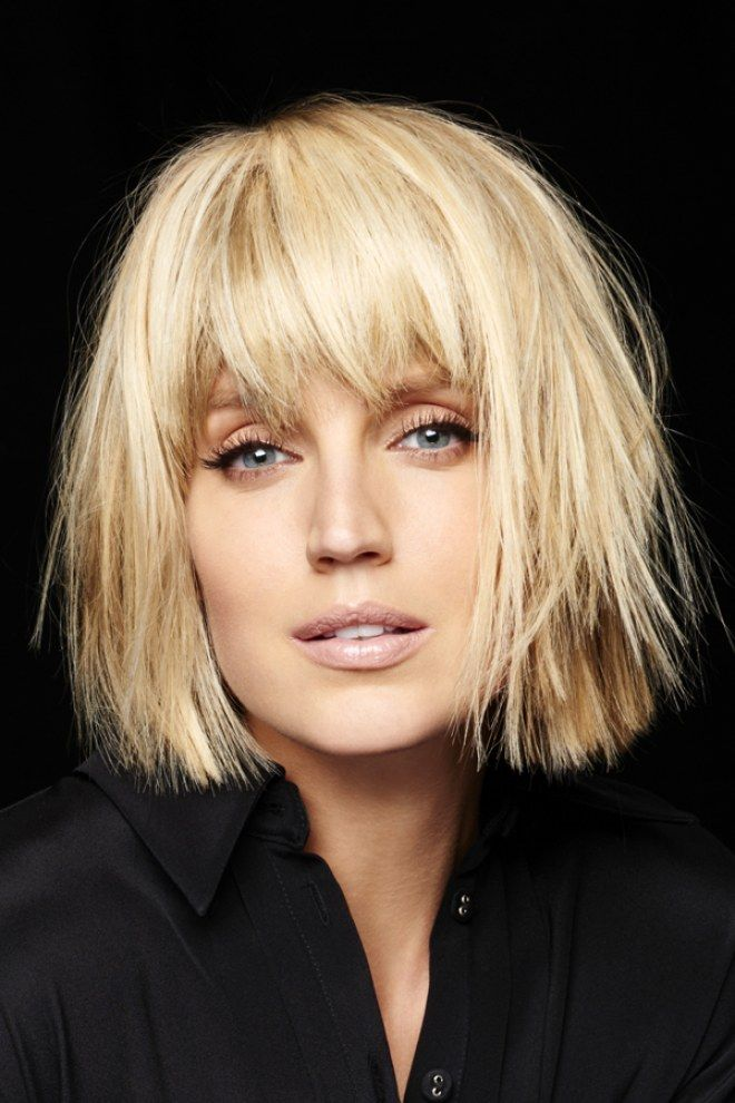 235 best images about cheveux mi longs on pinterest canon coiffures and coupe - Coiffure avec frange ...