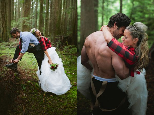lumber jack wedding inspiration Preppy Lodge Wedding Inspiration