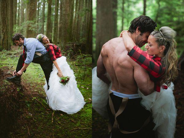 lumber jack wedding inspiration Preppy Lodge Wedding Inspiration