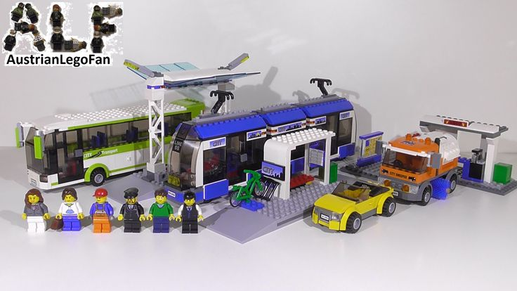 Lego City 8404 Public Transport Station / Grosse Bus und Tramstation - L...