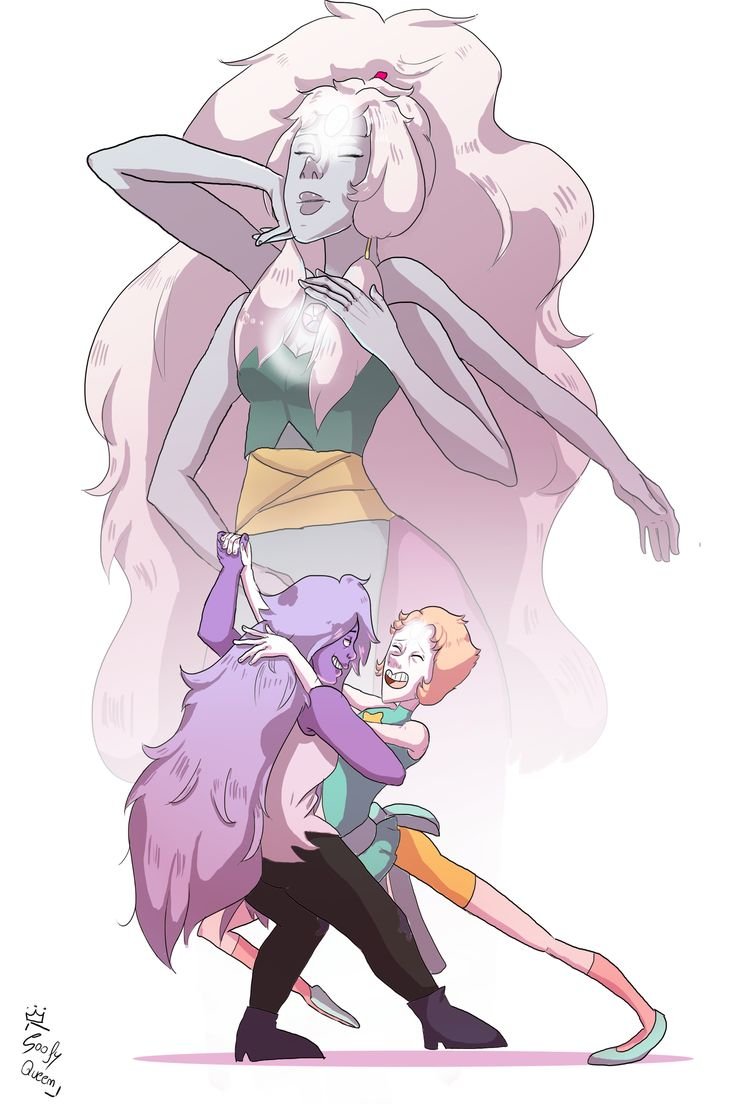 here's another drawing on Steven Universe <3 Opal is just wonderful and I hope you like it <3 #Pearl #Amethyst #Opal #StevenUniverse #Fusion  if you want you can follow me on facebook: (https://www.facebook.com/cryingbooty/)