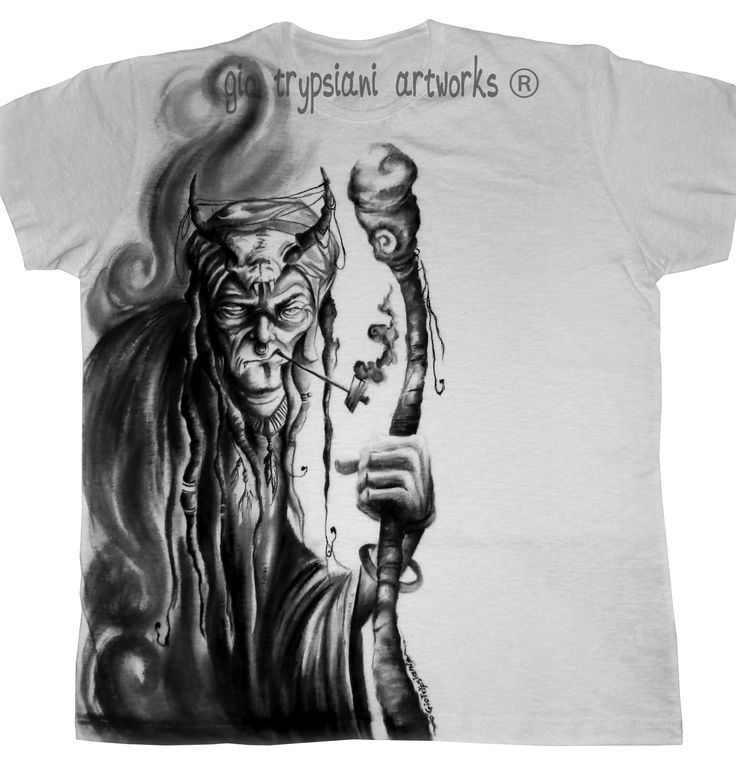 The Shaman - Hand painted unique t-shirt! from my collection on Etsy!